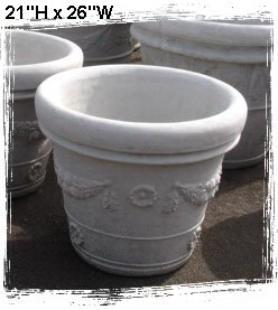 Concrete planters little baja garden deck and patio decor for Little baja pottery